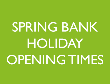 Spring Bank Holiday Opening Times